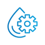 SAFEgroup Automation icon of a water droplet and a cog