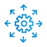 SAFEgroup Automation icon of a cog and arrows pointing out from it