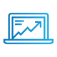 SAFEgroup Automation icon of a laptop with an arrow rising on the screen