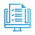 SAFEgroup Automation icon of a computer with a document coming out of it