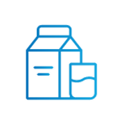 SAFEgroup Automation icon of a milk or juice carton with a glass next to it