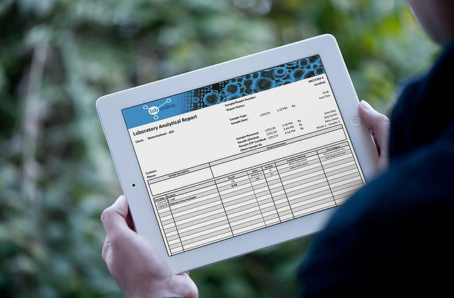 SAFEgroup Automation - image of a person using a ipad with a WaterOutlook report showing