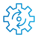 SAFEgroup Automation icon of a cog with arrows