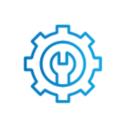 SAFEgroup Automation icon of a cog with a spanner in the middle