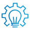 SAFEgroup Automation icon of a lightbulb with a cog around it