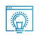 SAFEgroup Automation icon of a webpage with a lightbulb on top of it
