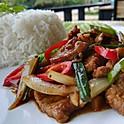 Beef Jalapeños Over Rice