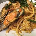 Spicy Seafood Udon Spaghetti  Stir fried