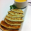 Roti Bread with Yellow Curry Sauce