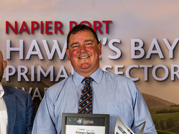 Ag teacher recognised in lights with Primary Sector Award I Rex Newman