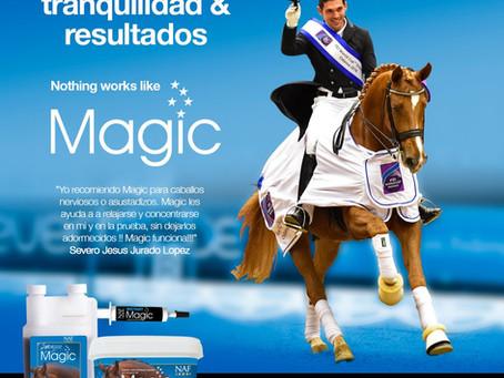 ¿Qué productos usa Severo Jurado para sus caballos?