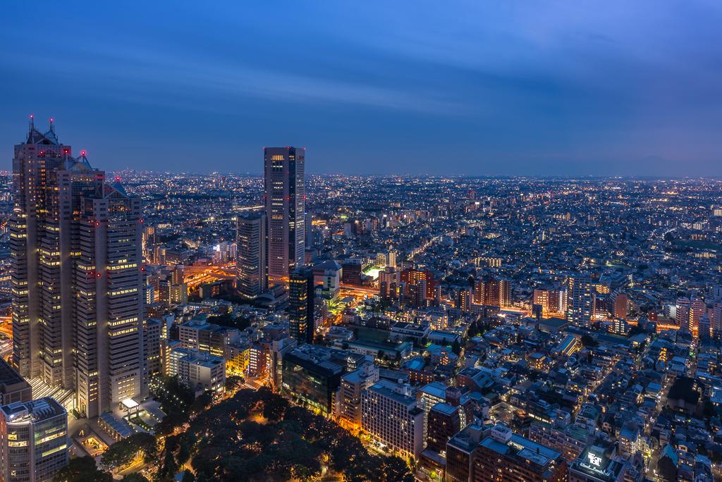 Tokyo night from Metropolitan Govern