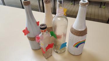 Décoration multimedia de bouteille en verre