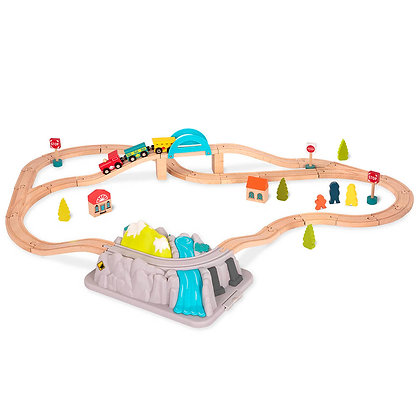 B.Woody - Ensemble de Train Wood & Wheels