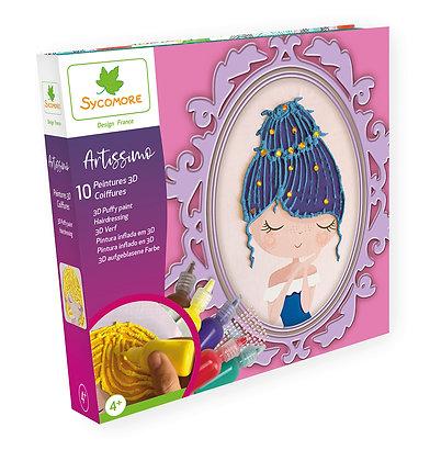 Artissimo - XL 10 Tableaux Coloriage & Peinture 3D - Coiffures