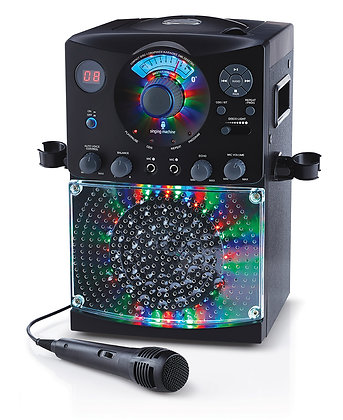 Karaoke Bluetooth et lumières - Noir