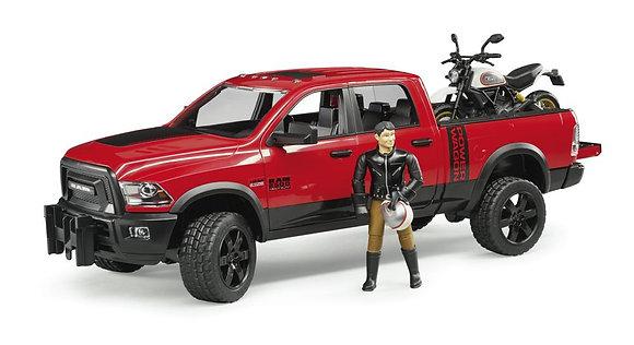 Bruder - RAM Camion & Moto Ducati Desert Sled