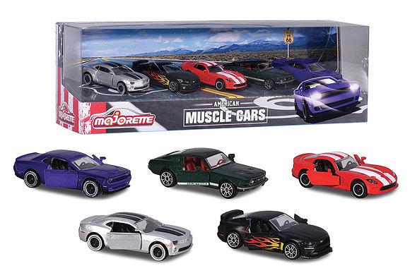 Majorette - Ensemble 5 voitures Muscle cars