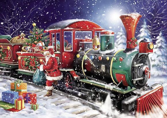 Casse-tête 1000 pièces - Le train du Père Noël