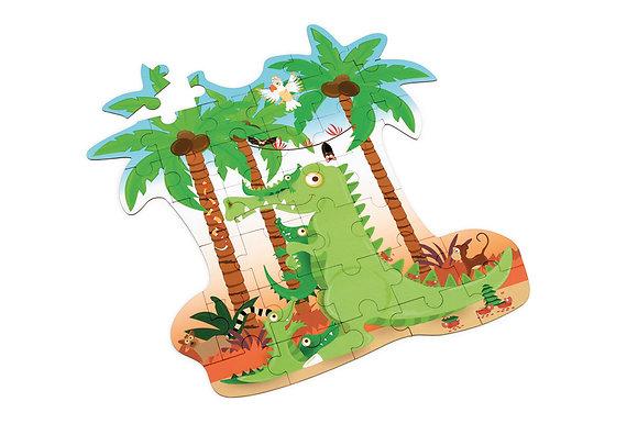Scratch - Casse-tête contour Crocodile 36 pièces