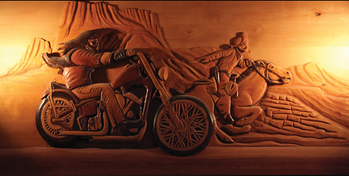 Midway Tavern Soldier Easy Rider Carving