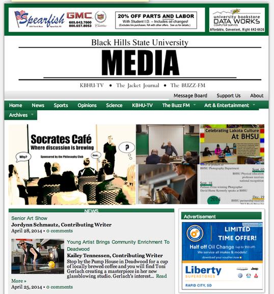 BHSU Media Website