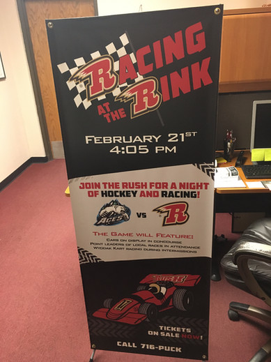 Racing at the Rink Banner