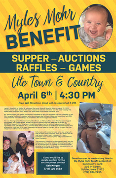 Myles Mohr Benefit and Auction Flyer