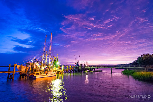Purple Sky at Dockside