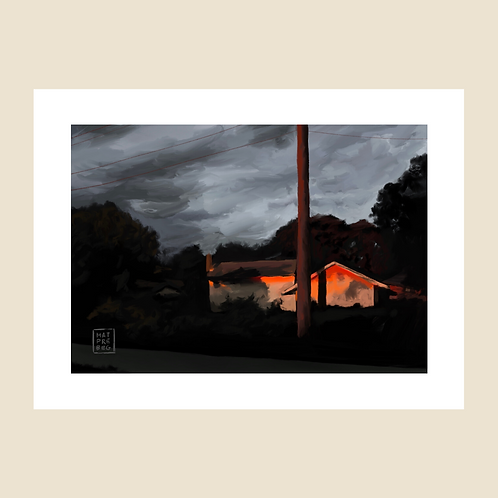 """""""The Suburbs"""" Digital Painting Download File"""