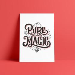 Pure Female Magic Poster