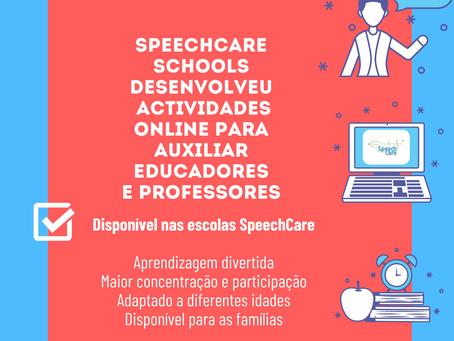 SpeechCare Schools disponibiliza material didáctico a escolas e famílias com quem colabora