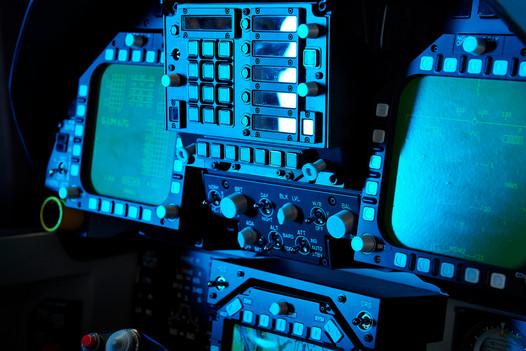 F-18 Motion Cockpit Instrument Panel