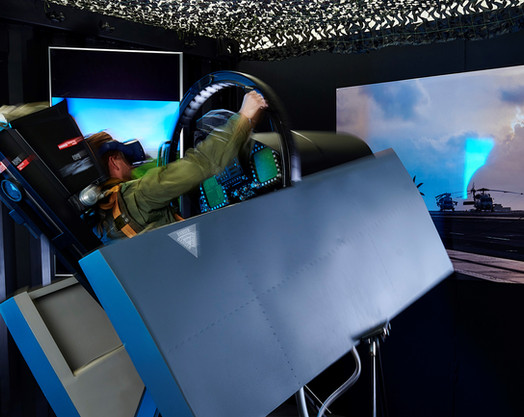 F-18 Motion Cockpit in action