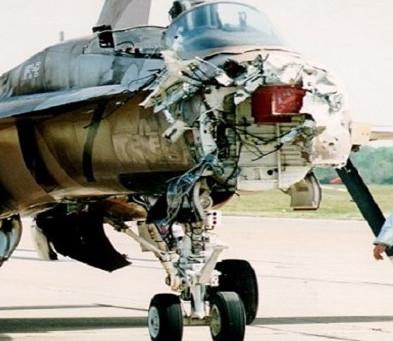 When F-18's Collide...