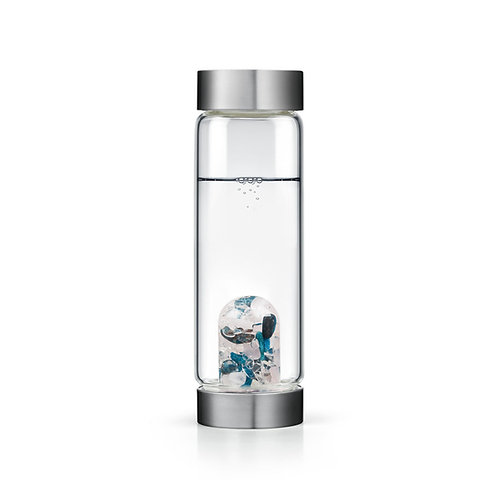 Body & Soul EXCLUSIVE Crystal Water Bottle - APATITE • ROSE QUARTZ • CLEAR QUART