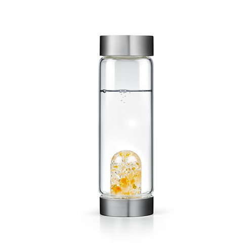 Boss & Babe EXCLUSIVE Crystal Water Bottle - 24K GOLD LEAF • CITRINE • CLEAR QUA