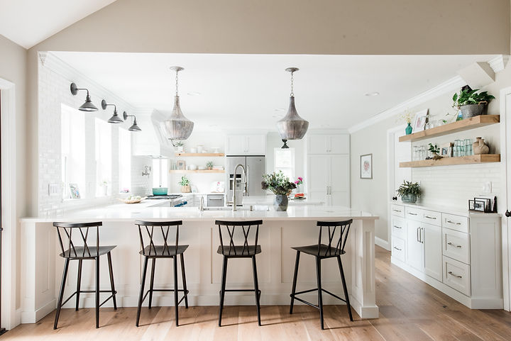 This St. Louis kitchen + living room designed by Styleberry Creative and shot by Madeline Harper Photography.