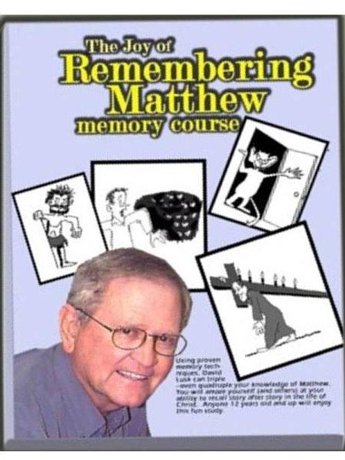 Remembering Matthew Study Guide