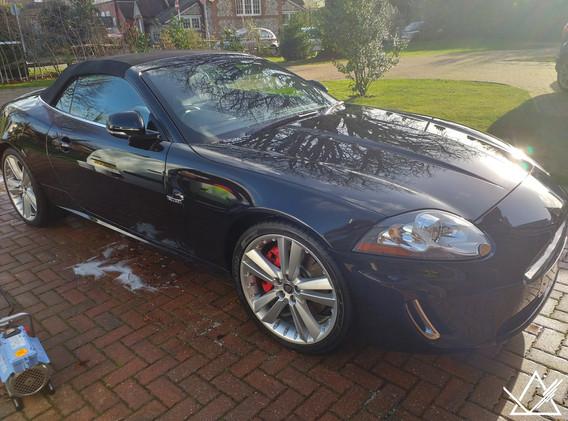 Jaguar XK after a wash and wax