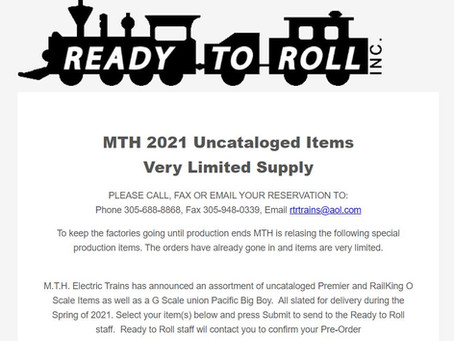 MTH 2021 UNCATALOGED ITEMS ORDER FORM
