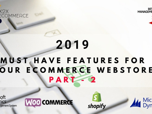 2019 Must-Have features for your eCommerce Webstore – Part 2