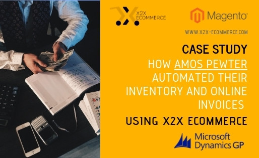 How Amos Pewter automated their inventory and online invoices using x2x eCommerce