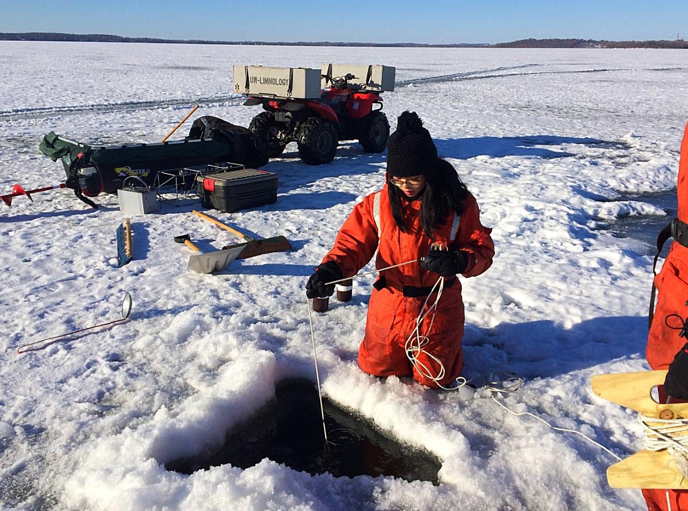 Winter Sampling on Lake Mendota (2018)