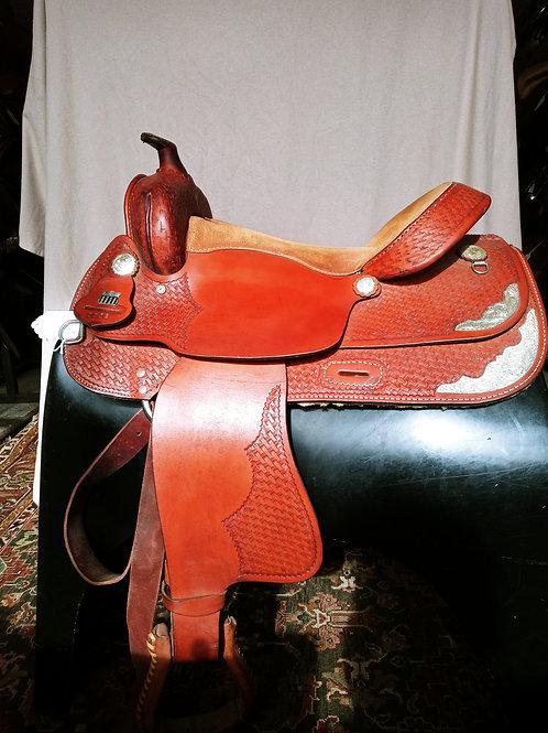 "Congress leather Handmade Western 16"" squareback"