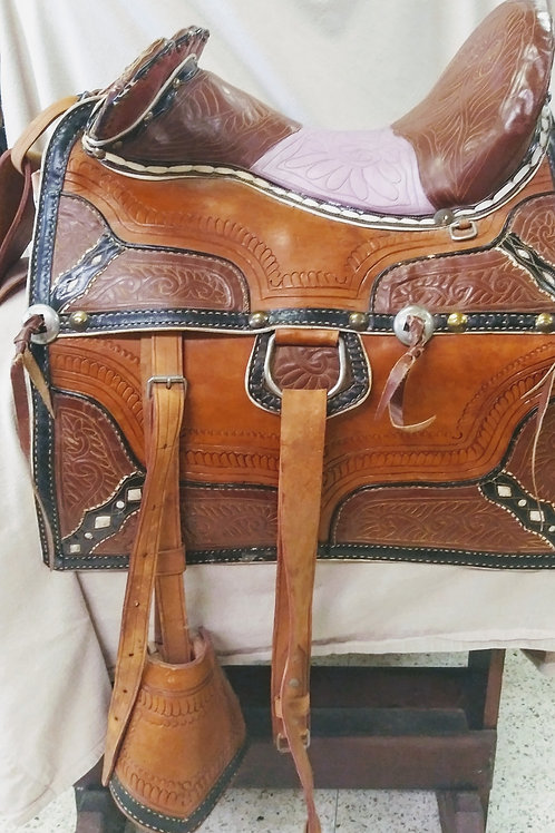 Persian parade saddle