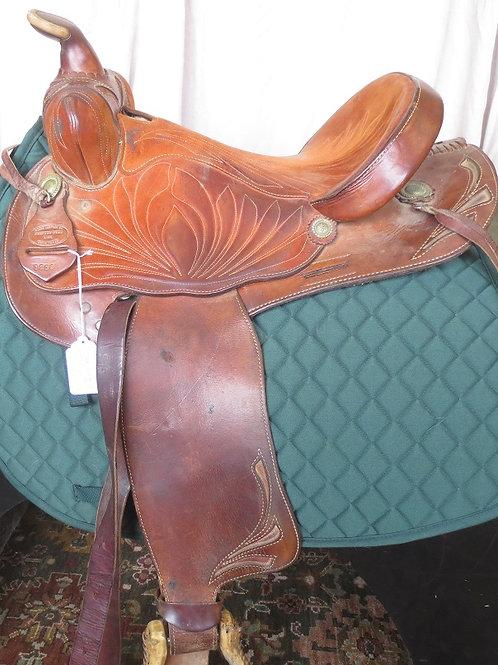 "Western Ozark Leather company 15"" Barrel/Pleasure saddle"