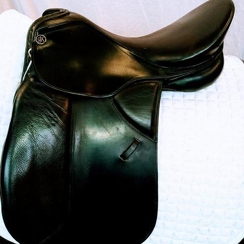 Kieffer Dressage 17.5 Black Wein DL Pro Long Flap