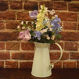 Cream jug with summer flowers.jpg