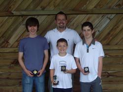 Brad with Matt, Max and Henry